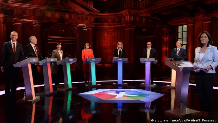 Großbritannien Wahlen TV-Debatte in London (picture-alliance/dpa/PA Wire/S. Rousseau)