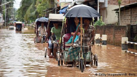 Floods in the Indian state of Assam (Getty Images/AFP/B. Boro)