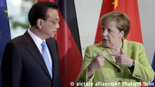 Li Keqiang in Berlin mit Angela Merkel
