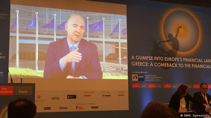 Economist Tagung in Frankfurt Pierre Moscovici (DW/K. Symeonidis)