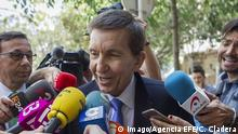 Spanish anti-corruption chief public prosecutor Manuel Moix talks to media before attending a meting in Palma de Mallorca, Balearic Islands, eastern Spain, 31 May 2017, a day after media reported thad Moix has 25 percent of a family company set in the tax haven of Panama which owns a house in Spain, worth at some 500,000 euro. Spanish anti-corruption chief public prosecutor Manuel Moix !ACHTUNG: NUR REDAKTIONELLE NUTZUNG! PUBLICATIONxINxGERxSUIxAUTxONLY Copyright: xCATIxCLADERAx GRA118 20170531-636318357460029810 Spanish Anti Corruption Chief Public Prosecutor Manuel Moix Talks to Media Before attending a meting in Palma de Mallorca balearic Islands Eastern Spain 31 May 2017 a Day After Media reported Thad Moix has 25 percent of a Family Company Set in The Tax Haven of Panama Which owns a House in Spain Worth AT Some 500 000 Euro Spanish Anti Corruption Chief Public Prosecutor Manuel Moix Regard only Editorial Use PUBLICATIONxINxGERxSUIxAUTxONLY Copyright xCATIxCLADERAx 20170531 636318357460029810