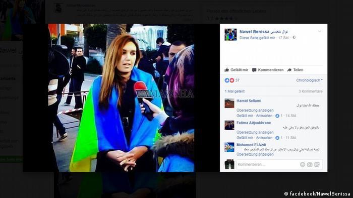 Screenshot Facebook Aktivistin Nawel Benissa (facdebook/NawelBenissa)