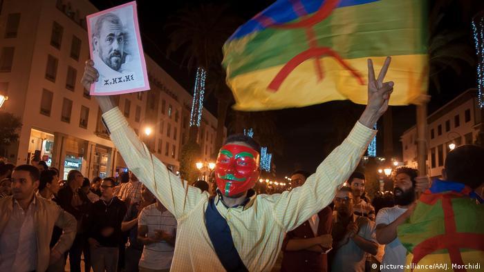 Marokko Rabat Demonstrationen (picture-alliance/AA/J. Morchidi)