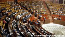 Marokko Premierminister Abdelilah Benkirane spricht im Parlament