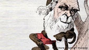 Karikatur von Charles Darwin
