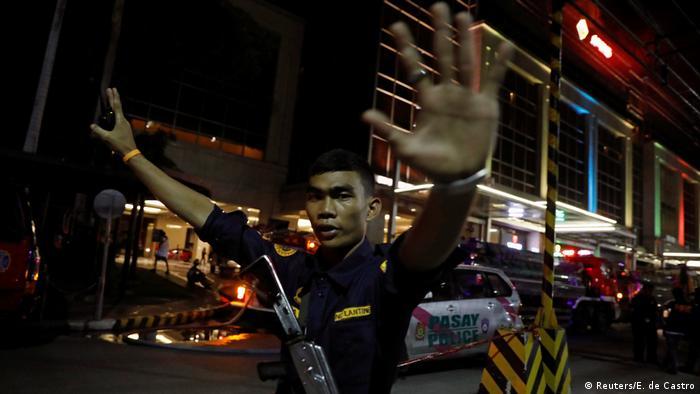 Полиция Филиппин на месте преступления