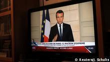 Frankreich Fernsehansprache von Präsident Macron - Pariser Klimaabkommen