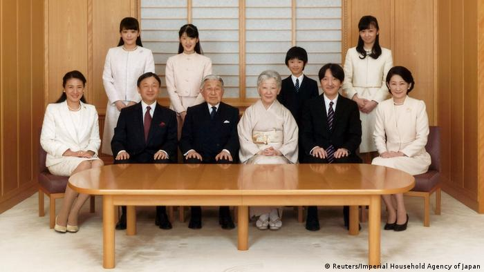 Japan Kaiser Akihito mit Familie (Reuters/Imperial Household Agency of Japan)