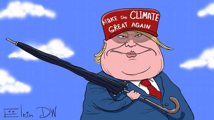 Trump, Paris Abkommen, Climate Change, Karikatur, Elkin, Sergey Elkin