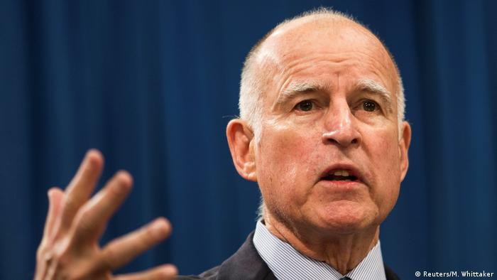 USA Californien - Governeur Jerry Brown in Sacramento (Reuters/M. Whittaker)