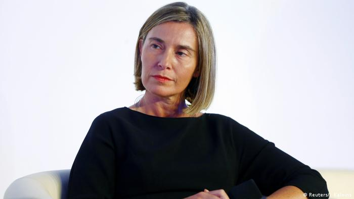 EU-Außenbeauftragte Federica Mogherini (Reuters/I. Kalnins)