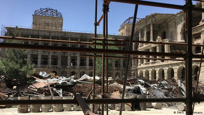 Afghan Women Work To Rebuild Kabuls Darul Aman Palace Asia An In