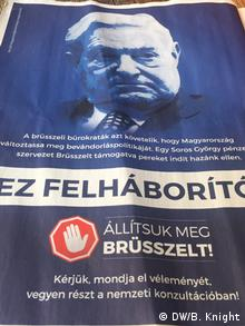 Ungarn Anti-Soros-Propaganda in Budapester Tageszeitung