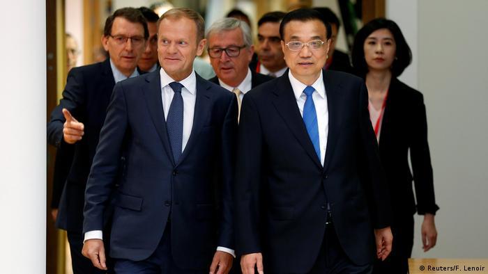 Brüssel China-EU-Gipfel | Tusk & Li Keqiang (Reuters/F. Lenoir)