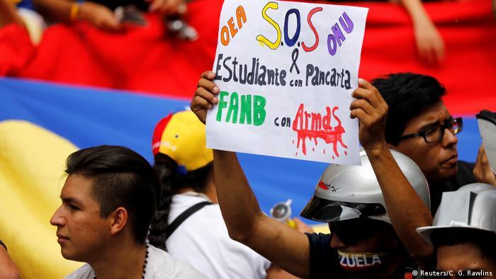Protestas en Caracas. (Archivo).