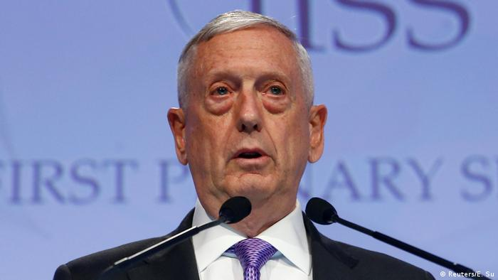 Singapur IISS Shangri la Dialogue - James Mattis (Reuters/E. Su)