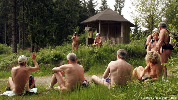 Naked hikers in Germany