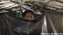 One of the women who was raped by Myanmar armed forces members takes shelter at Leda unregistered Rohingya camp in Cox's Bazar