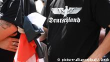 Demonstration von Rechtsextremisten in Karlsruhe-Durlach