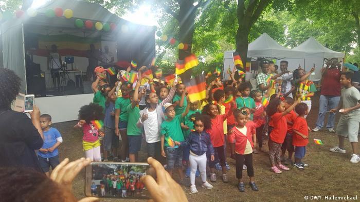 Deutschland äthiopisch - deutsches Sportfest in Berlin