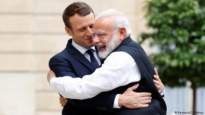 Frankreich Macron und Modi in Paris