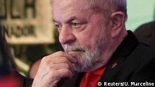 Former Brazilian President Luiz Inacio Lula da Silva, gestures during opening ceremony of the national congress of the Workers' Party in Brasilia, Brazil, June 1, 2017. REUTERS/Ueslei Marcelino TPX IMAGES OF THE DAY