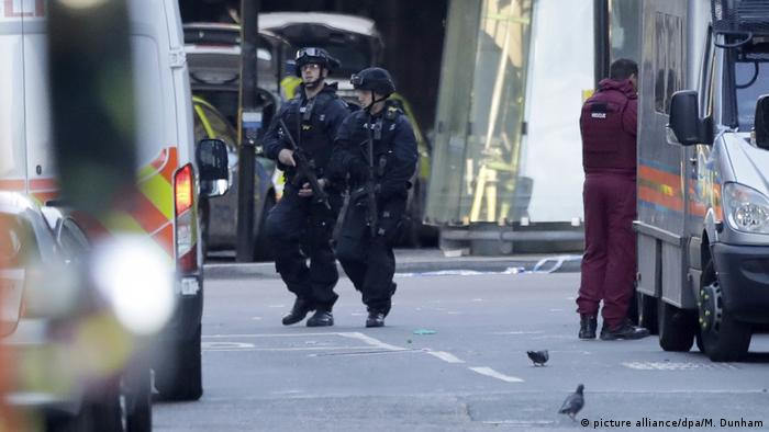 Zwischenfall an der London Bridge (picture alliance/dpa/M. Dunham)