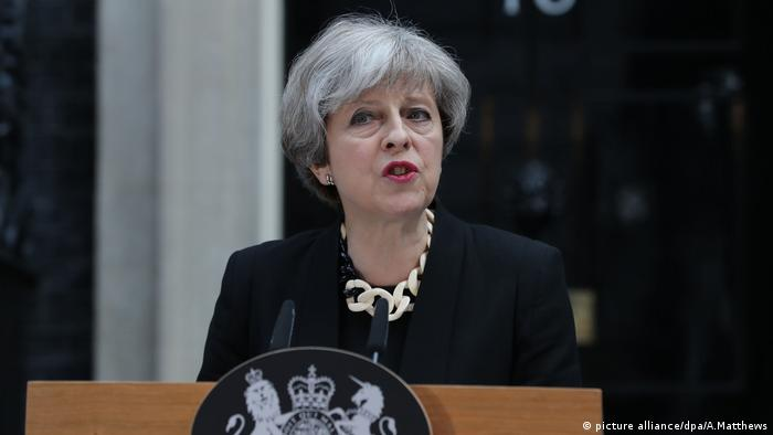Theresa May London Ansprache (picture alliance/dpa/A.Matthews)