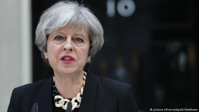 Theresa May Ansprache London (picture alliance/dpa/A.Matthews)