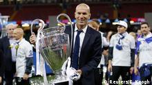 Wales Zinedine Zidane Championsleague-Trophäe