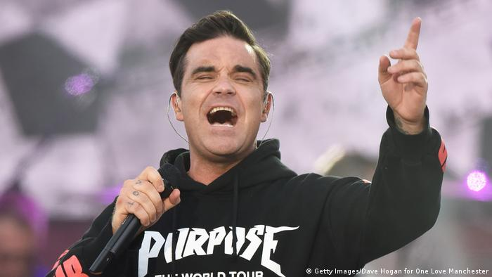 UK One Love Manchester Benefiz Konzert | Robbie Williams (Getty Images/Dave Hogan for One Love Manchester)