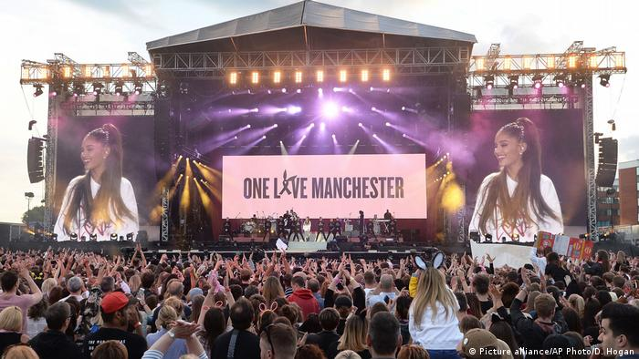 Benefizkonzert nach Anschlag in Manchester Ariana Grande (Picture alliance/AP Photo/D. Hogan)
