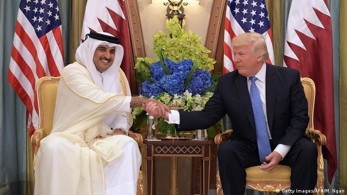 Riad Treffen Donald Trump Tamim Bin Hamad Al-Thani Emir Katar (Getty Images/AFP/M. Ngan)