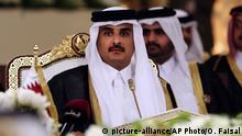 Katar Emir Scheich Tamim bin Hamad Al-Thani (picture-alliance/AP Photo/O. Faisal)