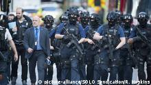 EXCLUSIVE: Jun 4, 2017 - London, UK - Armed Police and service staff this morning around Borough Market and the shard , after the night of the London Bridge Terror attack, (Credit Image: © Roland Hoskins/Daily Mail/SOLO Syndication)  