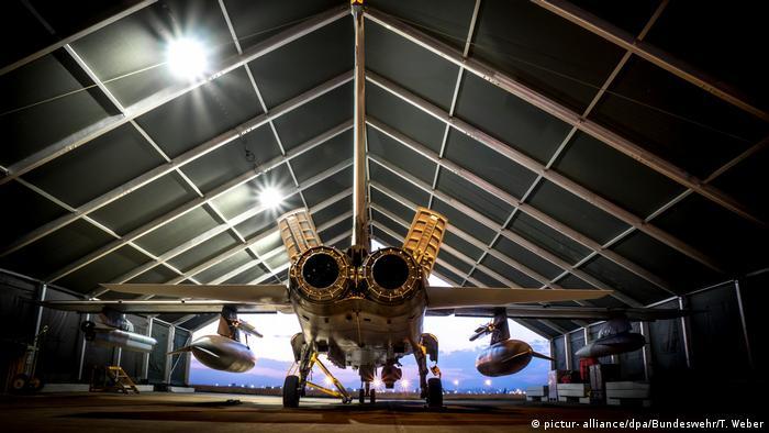 Боевой самолет ВВС Германии Tornado на авиабазе Инджирлик