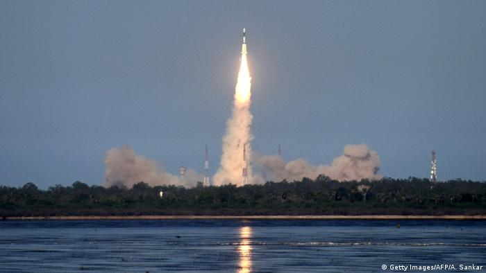 Indien Sriharikota: GSLV-F09 Sattelite Launch Vehicle beim Start