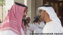 Saudi-Arabien Riad Prinzen Mohammed bin Zayed Al Nahyan - Mohammed bin Salman