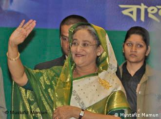 Bangladesh ex-premier Sheikh Hasina Wajed hailed Wednesday her landslide election victory as a vote against misrule and urged her bitter rival, who has alleged rampant vote-rigging, to accept the result. Sheikh Hasina's Awami League won 231 out of a possible 300 seats in Monday's ballot, while the Bangladesh Nationalist Party of Khaleda Zia -- another former premier -- managed only 27 seats.*** Mr. Mustafiz Mamun, photographer from Bangladesh, contributed these photos for Deutsche Welle. As he mentioned, ''these photos are taken by me (Mustafiz Mamun) & I permit Deutsche Welle to use them.''
