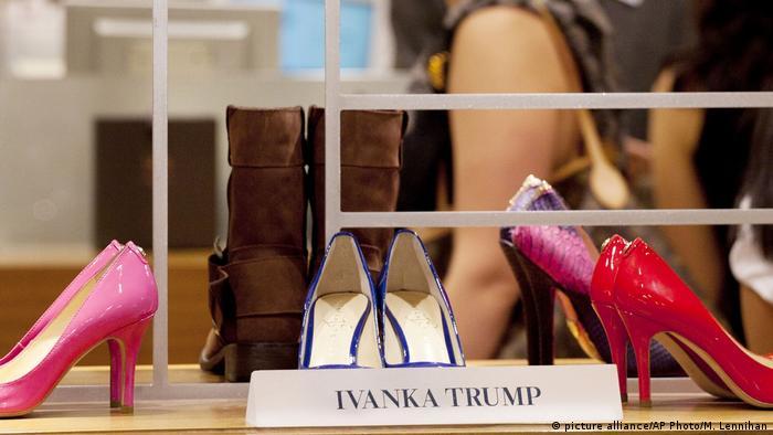 کفشهایی که نام دختر و مشاور رئیس جمهور آمریکا را یدک میکشنند