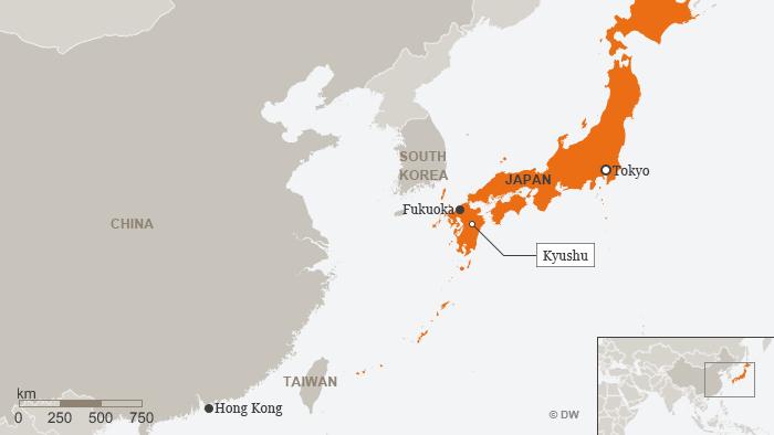 Karte Japan Kyushu ENG