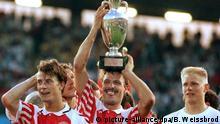 EM -Finale 1992 Dänemark und Deutschland - Deutsche Niederlage