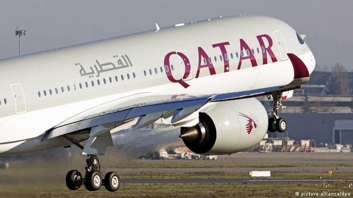 Katar Doha Qatar Airlines beim Start