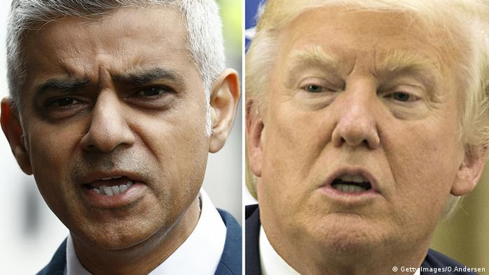 Donald Trump und Sadiq Khan (Getty Images/O.Andersen)