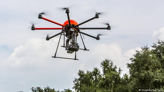 Ruanda pretende usar drones semelhantes a este, mas com um reservatório, para pulverizar inseticidas