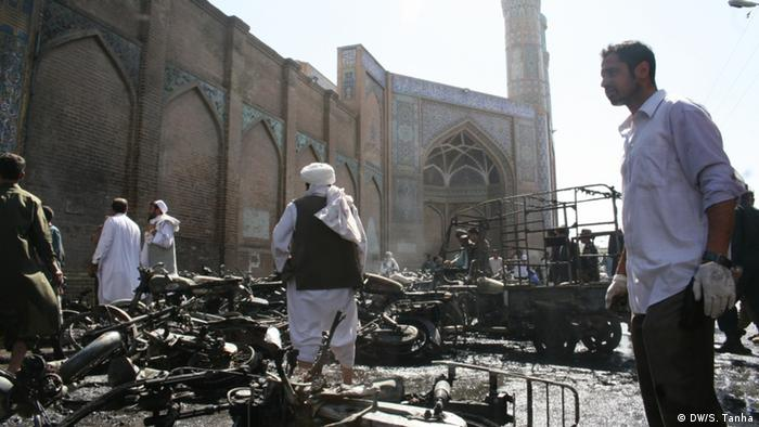 At least seven people were killed in an explosion at the biggest mosque in Herat