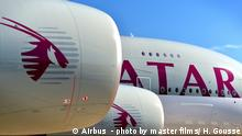 Airbus A380 von Qatar Airways
