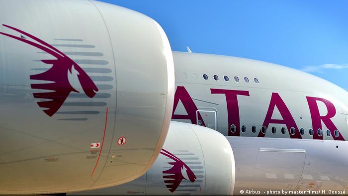 Airbus A380 von Qatar Airways (Airbus - photo by master films/ H. Goussé)