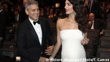 Ehepaar George und Amal Clooney