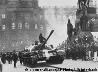 Советские войска на улицах Праги, 1968 год